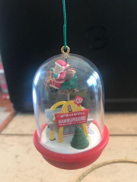 Mcdonalds Christmas Ornament.Enesco Mcdonalds Christmas Fly By Ornament Santa Claus Reindeer 1994 Vintage