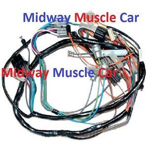 dash wiring harness 57 chevy 150 210 bel air nomad deluxe w o radio rh ebay com