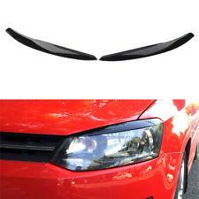 Eyelids Trim Cover for VW POLO MK5 2011 2012 2013 2014 2015 2016 2017 2018 Car Headlights Eyebrow Gloss Black//White