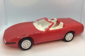 1992-Corvette-Convertible-Bright-Red-White-Interior-AMT-ERTL-1-25-Promo-Model