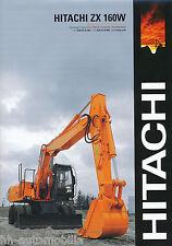 Prospekt GB Bagger Hitachi Zaxis ZX 160 W 2003 brochure excavator excavateur