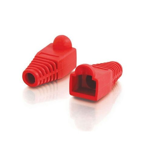 1000 Pcs LOT Red CAT5 CAT5E CAT6 RJ45 Plug Connector End Boot Cap Snagless