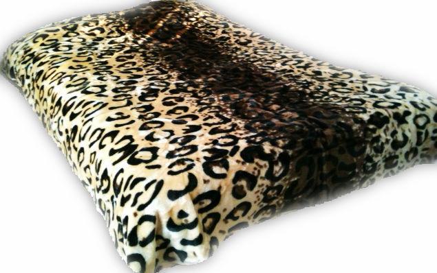 Brand new Leopard Cheetah Skin Borrego blanket soft warm and mink