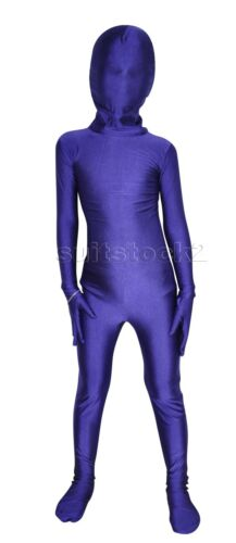 Kid Children Lycra Spandex Zentai Costume Bodysuit Catsuit Unitard Halloween