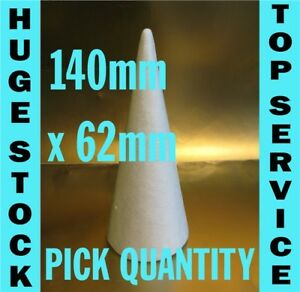 """top quality Polystyrene Cones 15cm 150mm 6/"""" christmas craft sweet trees"""