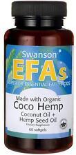 Made with Organic Coco Hemp Coconut Oil & Hemp Seed Oil 60 Sgels - 24HR DISPATCH