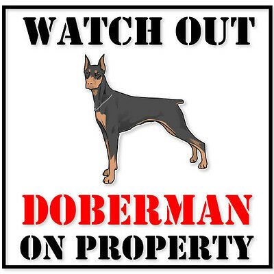 "IF IT/'S NOT A DOBERMAN IT/'S JUST A DOG 4/"" STICKER"