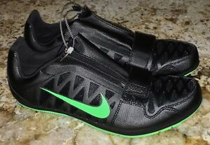 2a24fa7e91d NIKE Zoom LJ 4 Long Jump Black Lime Green Track Field Shoes NEW Mens ...