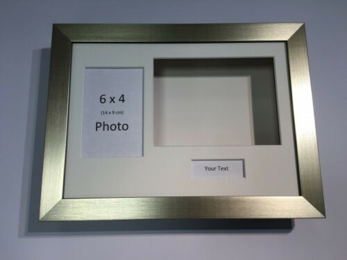 3D Deep Display Box//Craft//Casting Frame Gold Choose from 6 mount colours