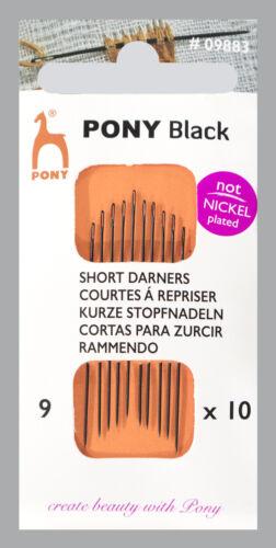 Pony Garnstopfnadeln Stopfnadel Stärke 9 schwarzes Öhr 12 Stück nickelfrei 09683