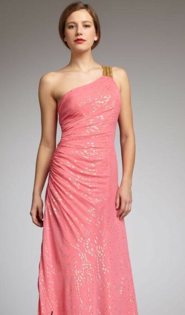 Gorgeous Aidan Mattox Rosa and Gold gown, Größe 6