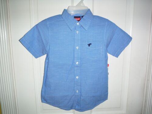 Wrangler Boys/' Short Sleeve Blue Woven Shirt