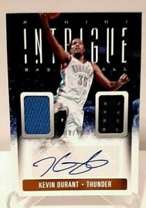 2013-14 Panini Intrigue KEVIN DURANT Dual Patch Autographed Card (No. 36) #8/49!