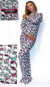 4cd22cdd9 Image is loading NWT-Sanrio-Hello-Kitty-Polar-Fleece-Footed-Jumper-