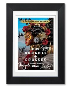 NOUGHTS + CROSSES CAST SIGNED BBC TV SHOW SERIES POSTER PHOTO AUTOGRAPH GIFT