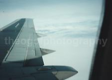AIRPLANE WING Vintage FOUND PHOTOGRAPH Color FREE SHIPPING In Flight  7126
