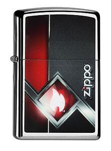 ZIPPO-Benzin-Feuerzeug-ZIPPO-Rot-Schwarz-60000549-NEU-OVP