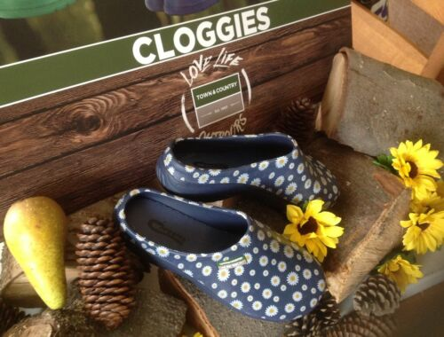 DAISY PATTERN GARDENING CLOGGS TOWN/&COUNTRY BARGAIN SALE PRICE A LOVELY GIFT!