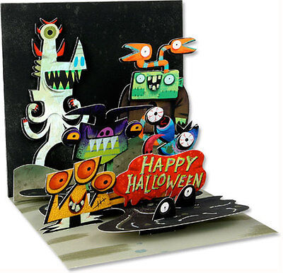 Monsters Pop-Up Halloween Card - Greeting Card by Up With Paper