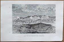 1890 Reclus print SERMITSIAQ GLACIER, NEAR IVITTUUT (IVIGTUT), GREENLAND (#7)