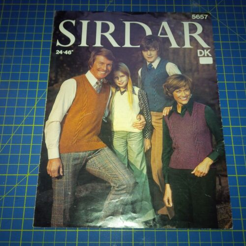 Sirdar Knitting Pattern For the Family Sweaters 5657