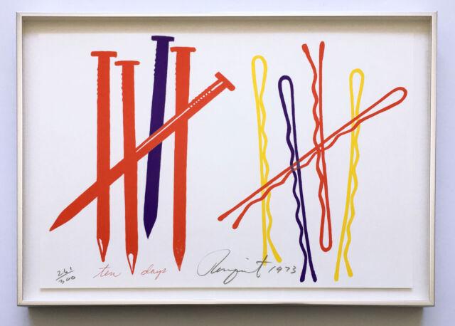 James Rosenquist 1973 Hand Signed Framed Screenprint Ltd Ed Pristine JKLFA.com