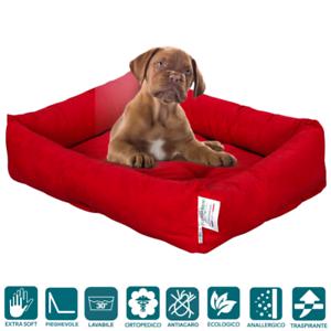 Lit pour chien de différentes tailles, non-déformable, lavable à la machine, rouge