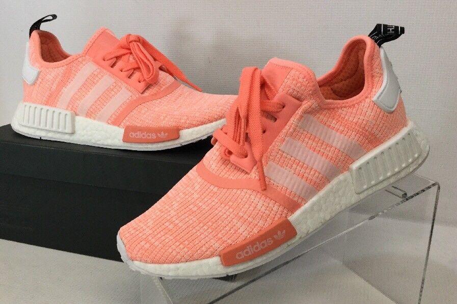 Adidas nmd bianco r1 by3034 sunglo / bianco nmd / hazcor (la rosa), corridore donna sz 8,5 m 1cef1e