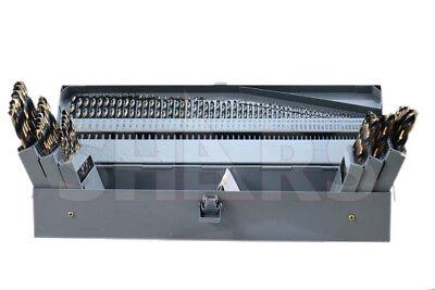 "29Pcs 135° HSS 1//16/"" To 1//2/"" By 64ths Heavy Duty Black /& Gold Jobber Drill Set"