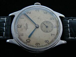 6cfdbbd4ec4 Vtge Raro Universal Geneve Militar WW2 Relógio Masculino Ref 5914 ...