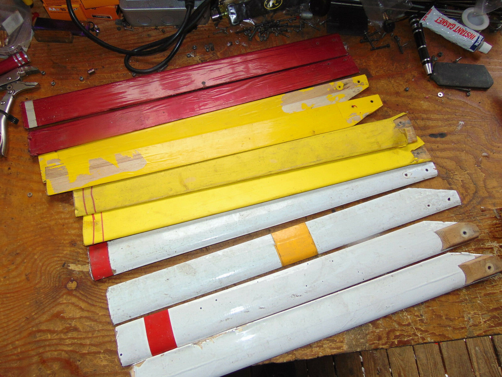 5x (PAIRS) 480 mm WOODEN MAIN redOR BLADES  SUIT VINTAGE HELI