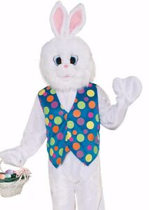 Image is loading Easter-Funny-Bunny-Costume-Adult-Deluxe-Plush-Furry-  sc 1 st  eBay & Easter Funny Bunny Costume Adult Deluxe Plush Furry Rabbit Mascot ...