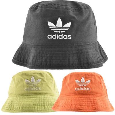 Adidas Originals Washed Bucket Hat Adicolor Embroidered Trefoil Logo Brand New | eBay