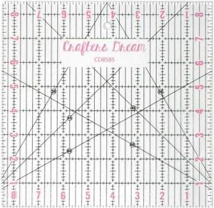 "Crafters Dream Transparent Quilting /& Patchwork Ruler Template 6/"" x 12/"" CD612"