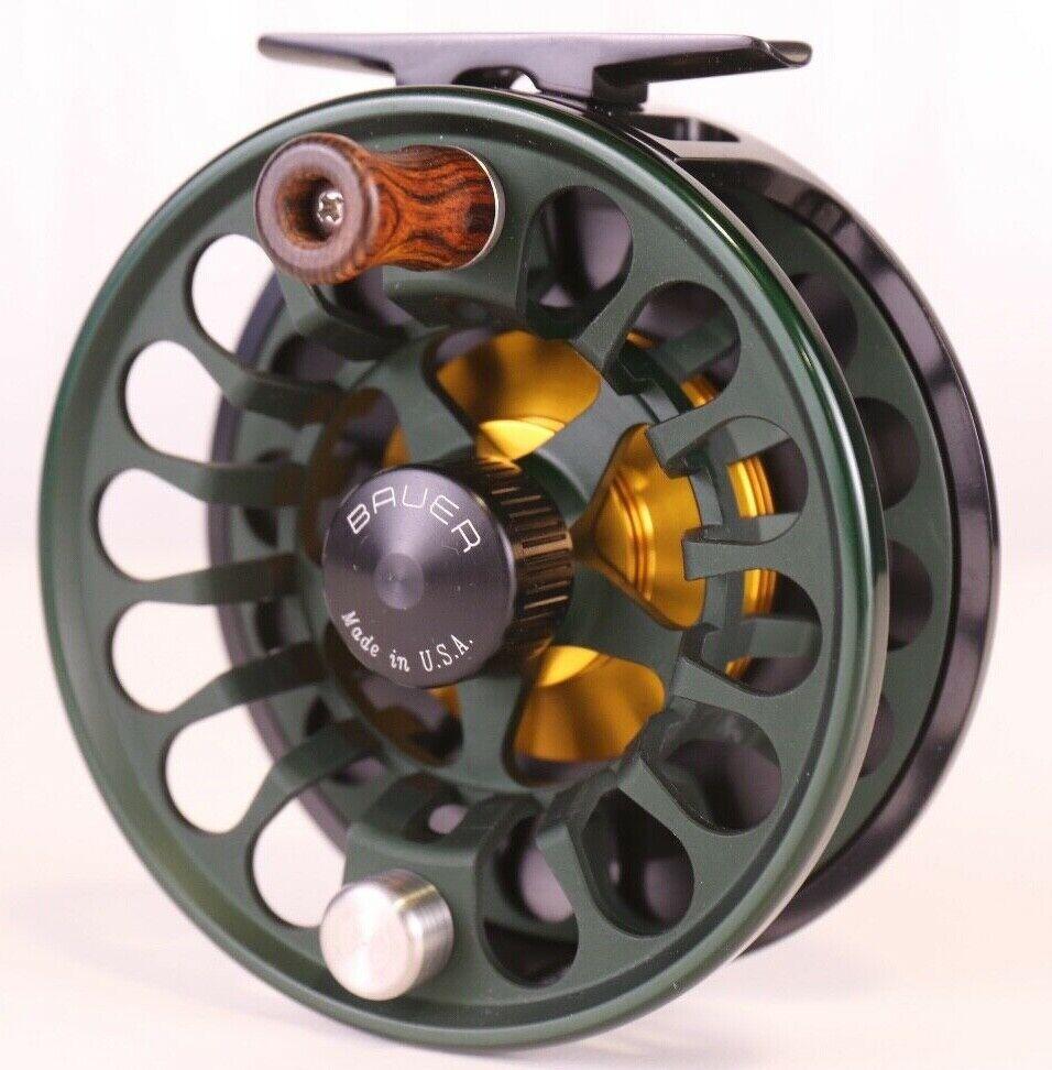 Bauer RX5 Classic Spey Reel Dark groen Gratis LINE VRIJ BACK GRATIS FAST SCHEPING