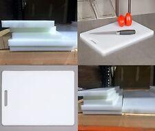 "White HDPE Matte Smooth UV Plastic NSF Sheet FDA Cutting Board 1/2"" x 12"" x 24"""