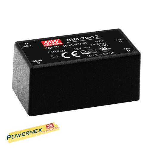 powernex Mean Well neuf IRM-20-12 12 V 1.8 A 21.6 W Single Output Power Supply
