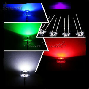 5mm-Straw-Hat-Purple-Blue-Green-Red-White-Color-LED-Wide-Angle-Light-Lamp