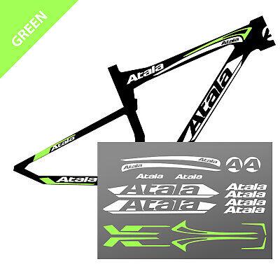 ADESIVI BICI ATALA Bike Bicicletta logo a colori Bici KIT 18 pezzi PRESPAZIATI