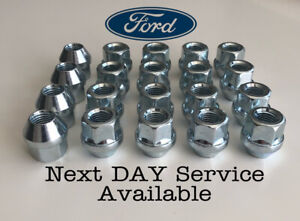 Ford Open Alloy Wheel Nuts M12 x 1.5 (Silver) x 20