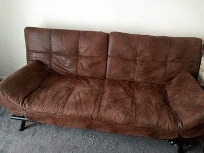 Texas Faux Leather Sofa Bed Bensons