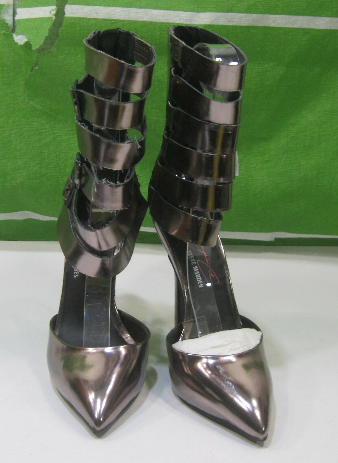 New Steve Madden Bsteel 5 High High High Heel Pointy Toe Ankle Straps Sexy shoes Size 7 da2269