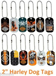 HARLEY-DAVIDSON-DOG-TAG-TAGS-KEYCHAIN-KEY-CHAINS-LICENSED-NEW