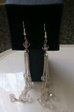 hand-made drop/dangle earrings- crystal effect AB acrylic beads-bride/bridesmaid