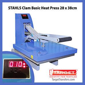 Heat-Press-Stahls-Clam-Basic-Transfer-Press-11-x-15-28cm-x-38cm-NEW