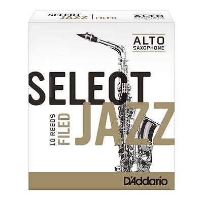 D'ADDARIO JAZZ SELECT ALTO SAX REEDS 3S FILED - 10/BOX