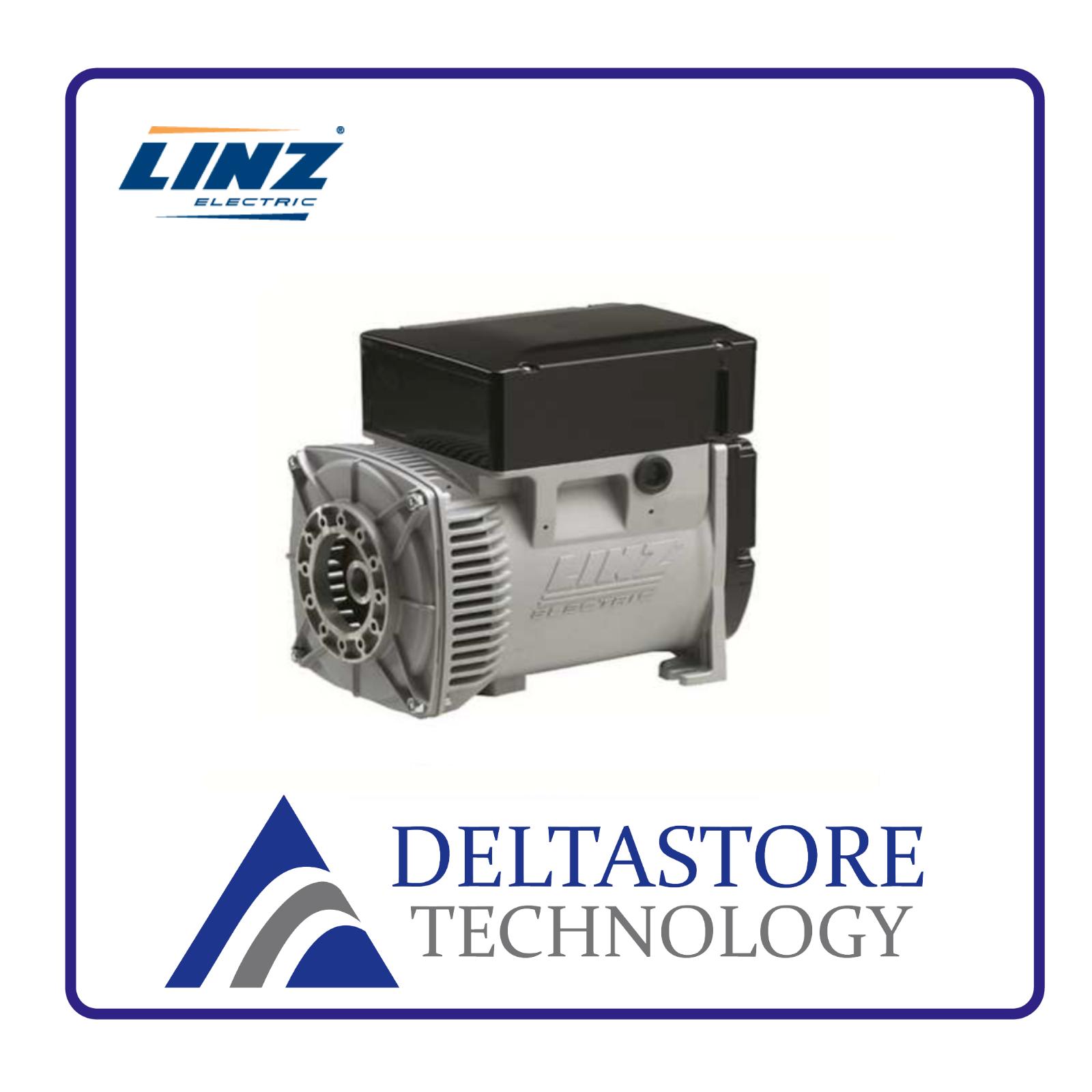 ALTERNATORE LINZ TRIFASEE1S13 4 POLI DA 8 A 20 kVA COMPOUND - FLANGIA A SCELTA