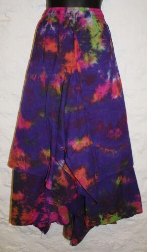 New Fair Trade Cotton Skirt 24 26 28 30 Hippy Ethnic Ethical Hippie Tie Dye