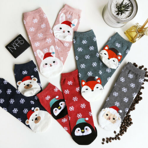 Cute Lovely Christmas Santa Claus Socks Ladies Women Girls Socks Great Quality