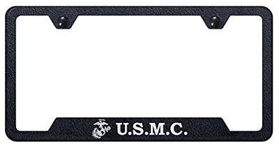 2X 3D HEMI Raised Emblem DODGE White Black Stainless Steel License Plate Frame